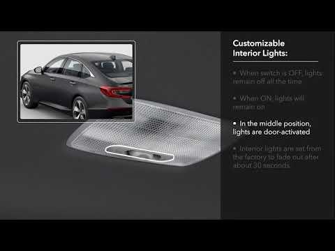How to Customize Interior Light Operation 2018 Honda Accord Display