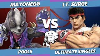 GOML 2020 SSBU - Mayonegg (Wolf, Joker) Vs. Lt. Surge (Marth, Ryu) Ultimate Pools
