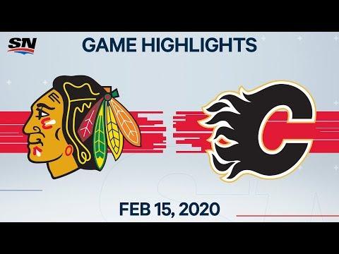NHL Highlights | Blackhawks Vs Flames – Feb. 15, 2020