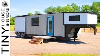 36ft/16ft Expandable Container Home On Gooseneck Trailer