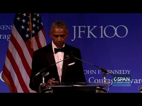 Former President Obama remarks upon receiving JFK Profile in Courage Award (C-SPAN)