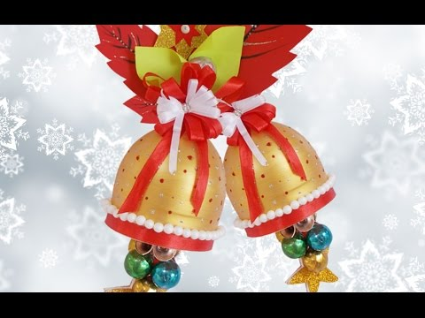 christmas decorations from wasted plastic bottle diy christmas bell decoration craft ideas