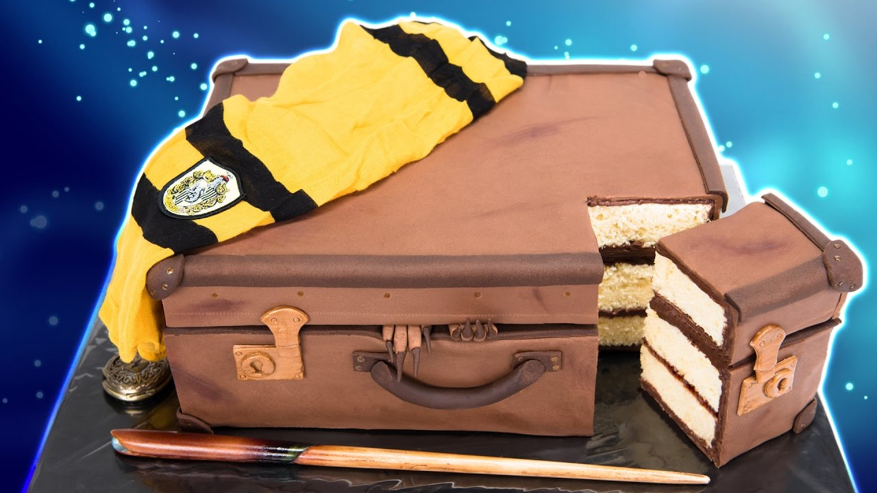 Fantastic Beasts And Where To Find Them Suitcase Cake Harry Potter Cake Youtube