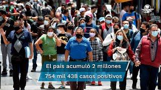 El país contabilizó 171 muertes por coronavirus más que el domingo; Salud observa un incremento de casos positivos de 3.4% al inicio de esta semana