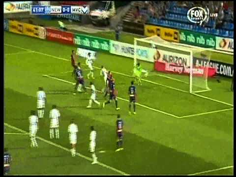 Mitch Nichols Own Goal Melbourne Victory Vs Newcastle Jets