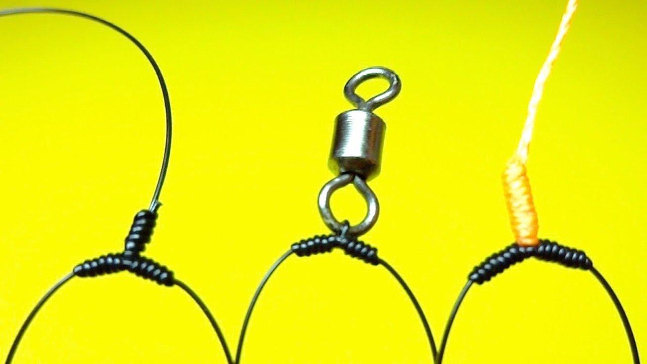 Топ 3 как привязать поводки чтобы они не путались | как привязать отводной поводок | рыболовные узлы