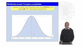 Distribución normal. Conceptos y propiedades      UPV