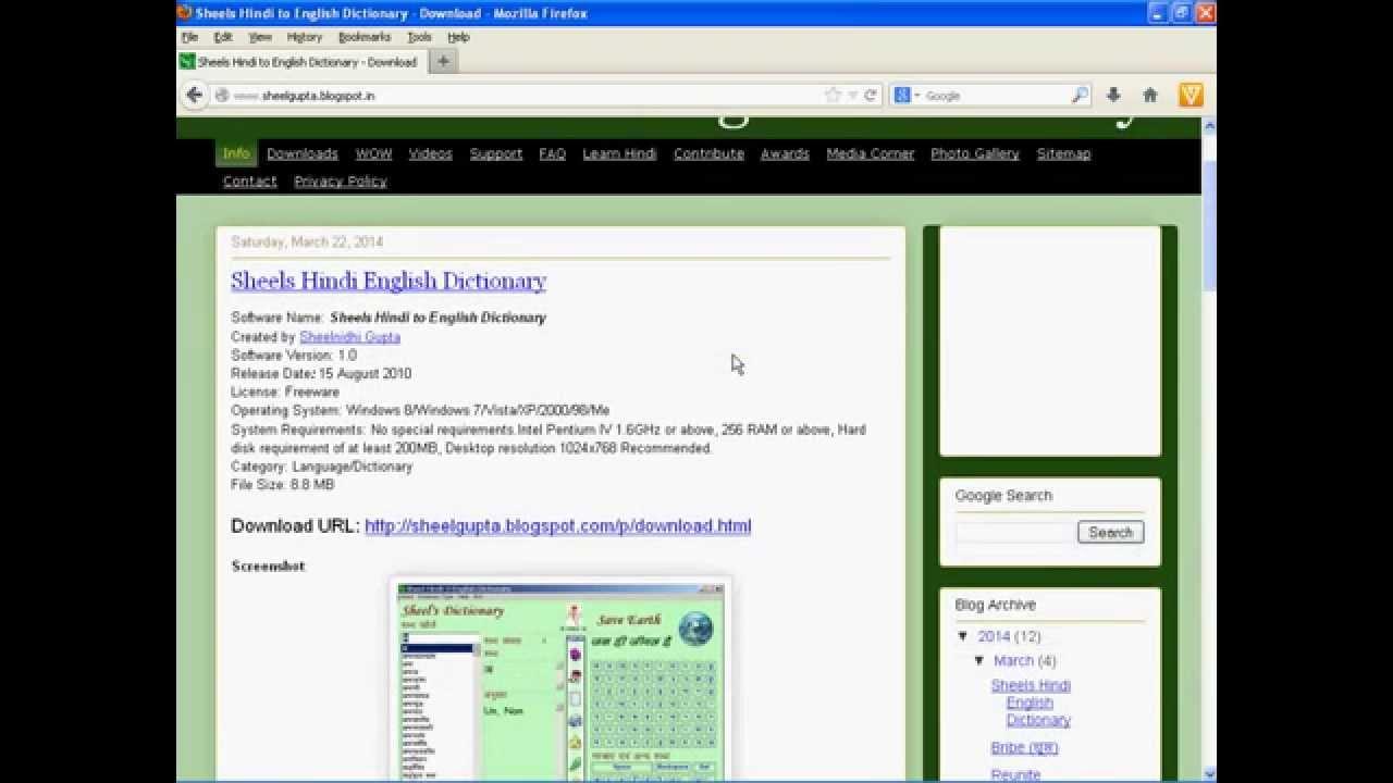 Download Sheels Hindi to English Dictionary free - By