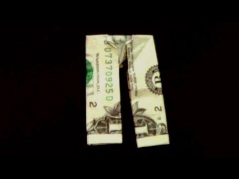 Dollar Origami Pants Tutorial - How To Make Dollar Pants