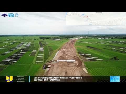 Drone Toll Road Wilangan - Kertosono Update 17 Januari 2018