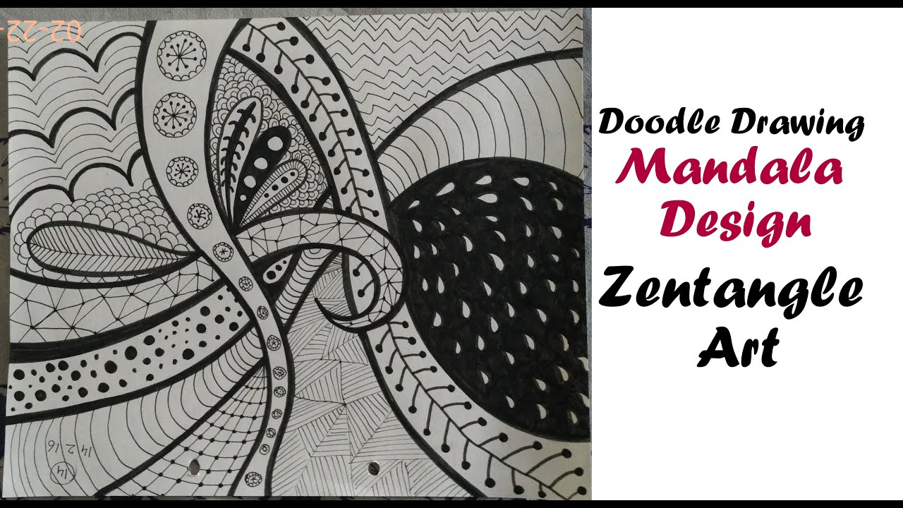Mandala zentangle art tutorial for beginners easy doodle for Drawing patterns for beginners