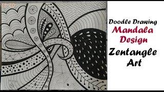 mandala doodle zentangle draw easy step beginners drawing tutorial
