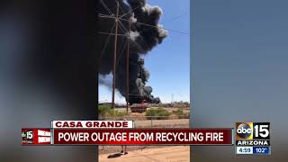 Crews battling 'massive' commercial fire in Casa Grande