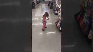 On Reflection, Terrified Toddler Realizes Supermarket Floor Is Safe