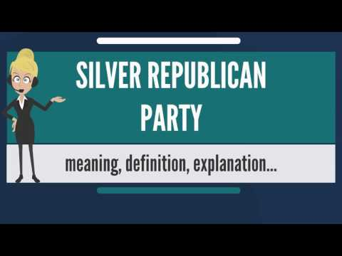 What is SILVER REPUBLICAN PARTY? What does SILVER REPUBLICAN PARTY mean?