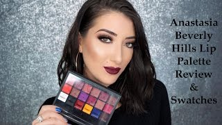 Anastasia Beverly Hills Lip Palette Swatches and Review