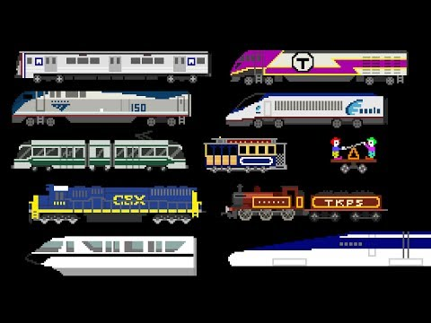 Thumbnail: Railway Vehicles - Trains and Subways - The Kids' Picture Show (Fun & Educational Learning Video)