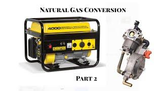 Part 2 - Converting Champion Generator to Natural Gas or Propane NG LP