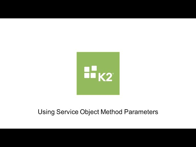 How-To: Using Service Object Method Parameters