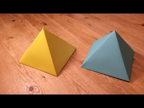 How a make a perfect paper pyramid