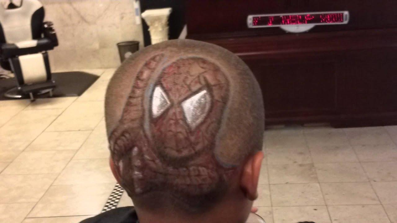 Richcuts Spiderman Shooting Web Haircut Design Youtube