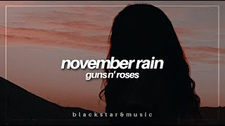 november rain || guns n' roses || traducida al español + lyrics