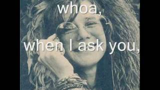 Janis Joplin Ball and Chain (with lyrics)