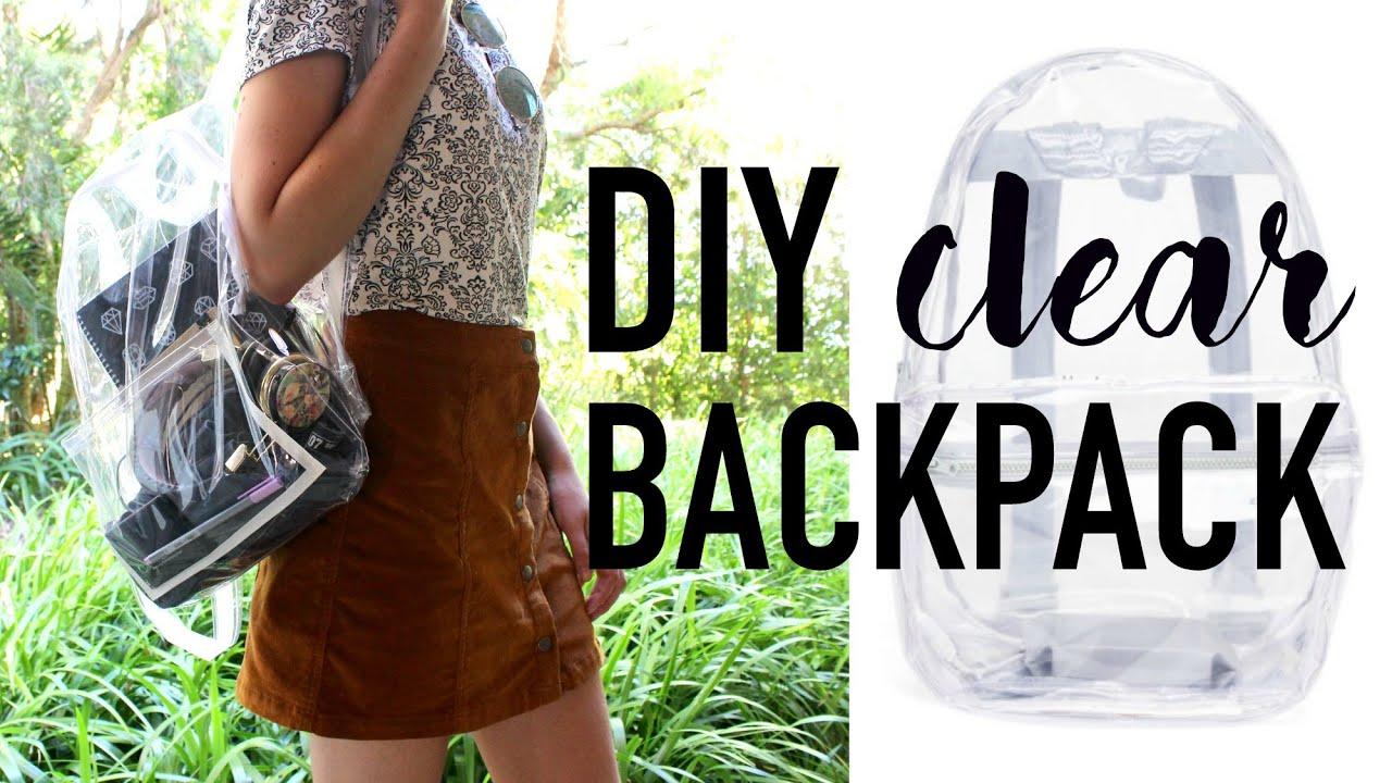 Diy Transparent Bag Backpack Diy Dupes 3