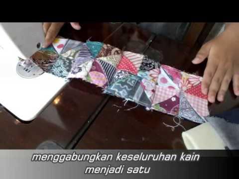 tutorial membuat tas dari kain perca