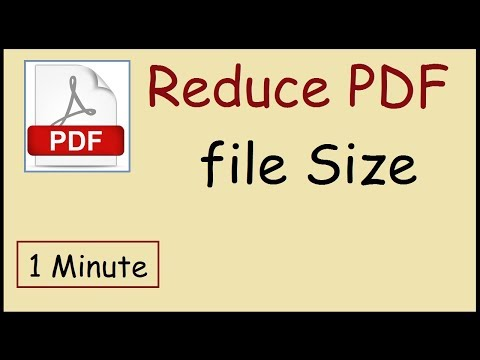 How to reduce PDF file size Adobe Reader