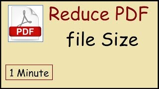 how to reduce your PDF File size on Mac OS X