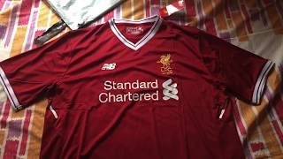 Elmontyouthsoccer.com 17-18 LIVERPOOL Home Jersey Unboxing Review