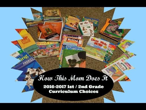 Our 2016-2017 1st/2nd Grade Homeschool Curriculum Choices