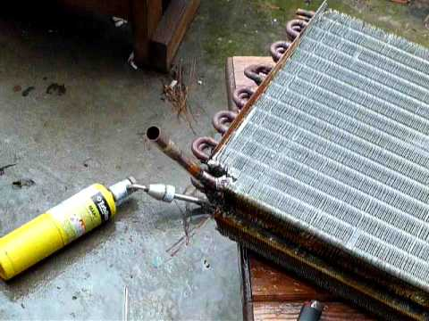 Convert A C Coils Into Hot Water Heat Exhangers 1 Youtube
