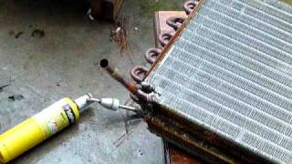 Convert A/C coils into hot water heat exhangers (1)