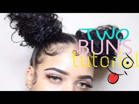 TWO BUNS + laying edges tutorial   Vanessa Lynn @ortizv95