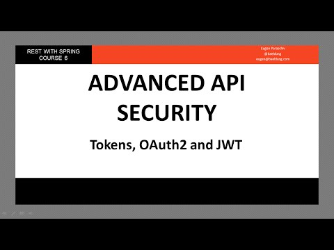 Tokens, OAuth2 and JWT in a Spring API (RWS - Module 6 - Lesson 3