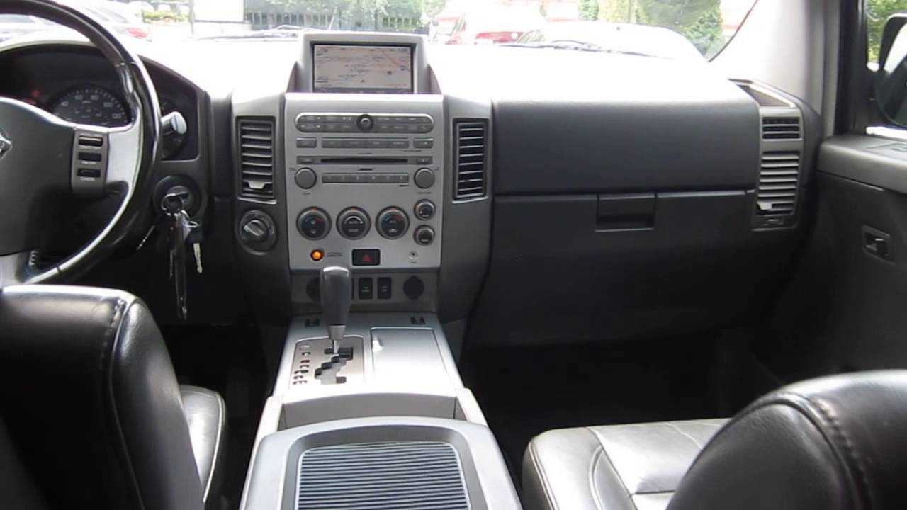 2005 Nissan Armada Red Brawn Stock 13838a Interior Youtube
