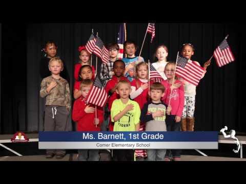 Pledge of Allegiance - Ms. Barnett - 1st Grade - B.B. Comer Elementary School