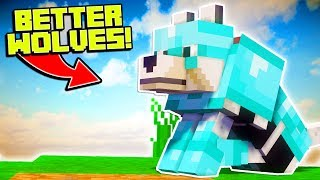 HOW TO GET BETTER WOLVES IN MINECRAFT!! | Minecraft Mods (Upgrade Your Wolves)