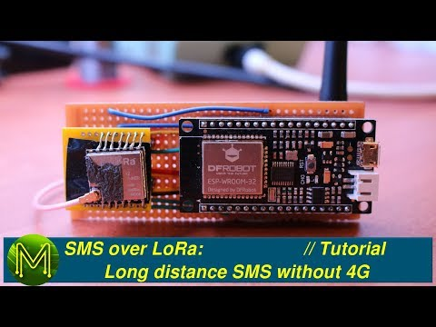 SMS over LoRa: Long distance SMS without 4G // Project - MickMake