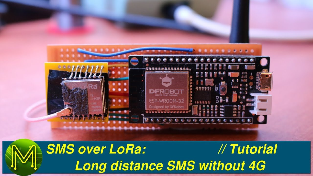 #186 SMS over LoRa: Long distance SMS without 4G // Project