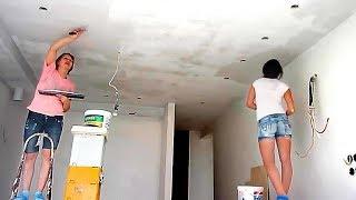 Подготовка потолка из гипсокартона под окраску