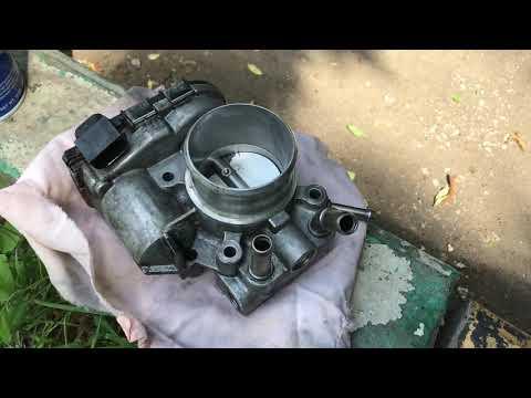 Опять горит Check Engine на Киа Рио - чищу дроссель