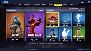 VALKYRIE - CLOAKED SHADOW Skins are BACK - 13 février Fortnite Daily Item Shop LIVE