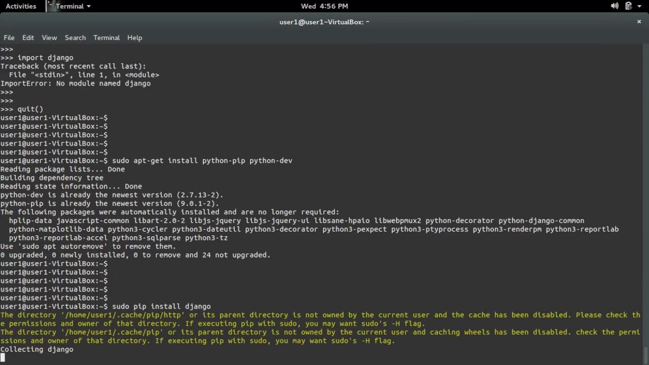 django install python library