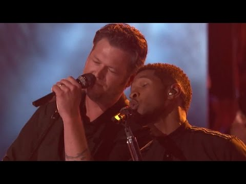 Usher Goes Country! Covers Blake Shelton's 'Neon Light' During Live Performance