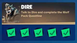 Fortnite Complete 'Dire' ChaĮlenges Guide - How to Complete the Wolf Pack Questline