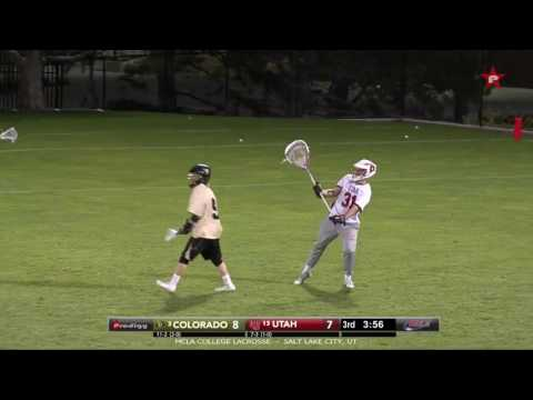 Goalie Goal! Utah Lacrosse Goalie Quinton Swinney from way downtown.