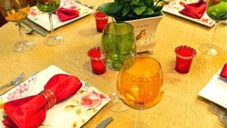 Lady's Lunch Table Setting & Craft Ideas